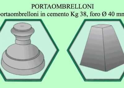 13 FOTO PORTA OMBRELLONI IN CEMENTO